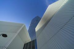 Isozakitoren in Citylife, in Milaan Royalty-vrije Stock Afbeelding