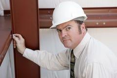 Ispettore della costruzione - serio Fotografie Stock Libere da Diritti