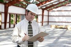 Ispettore della costruzione - sospettoso Immagini Stock
