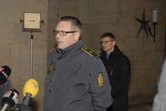 ISPETTORE DI POLIZIA DEL CAPO DI TOBEN MOLGAARD JENSEN Fotografia Stock