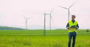 Ispezione del generatore eolico archivi video
