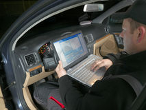 Ispezione dell'automobile VIN fotografie stock libere da diritti