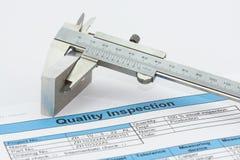 Ispezione di qualità Immagine Stock