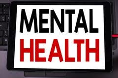 Ispirazione concettuale di titolo del testo di scrittura della mano che mostra la salute mentale Concetto di affari per disordine immagine stock