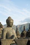 Ispirazione di Buddhas, Borobudur Fotografie Stock Libere da Diritti