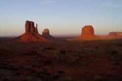 Ispirazione di tramonto alla valle del monumento fotografie stock libere da diritti