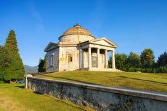 Ispra Mausoleo Castelbarco, Lago Maggiore Immagine Stock