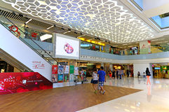 Isquare hopping mall hong kong. Top level of isuare shopping mall in hong kong Stock Image