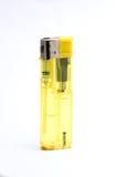 Isqueiro de gás plástico amarelo Fotos de Stock Royalty Free