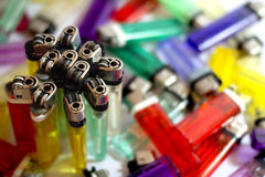 Isqueiros coloridos Fotos de Stock Royalty Free