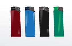 isqueiros plásticos Fotografia de Stock Royalty Free