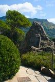 ISQUIONES, ITALIA - AGOSTO, 30: Oscile con la carta en el La Mortella, el 30 de agosto de 2011 Fotos de archivo libres de regalías