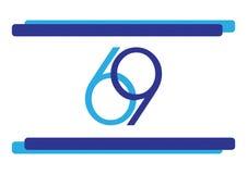 Israël 69 de vlag van de onafhankelijkheidsdag stock illustratie