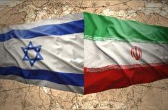 Israël en Iran stock illustratie