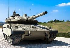 Israël gemaakte hoofdgevechtstank Merkava Mk IV Royalty-vrije Stock Afbeeldingen