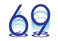 Israël 69 het pictogram van de onafhankelijkheidsdag stock illustratie