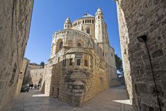 Israël - Jeruzalem - Abdij van Dormition-aka Hagia Maria Sio Royalty-vrije Stock Foto