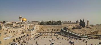 Israël - Jeruzalem - Panorama van het Westelijke Muur Loeien Wal Royalty-vrije Stock Foto
