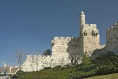 Israël - Jeruzalem - Toren van de Citadel van akajeruzalem van David, Migd Stock Foto's