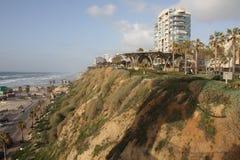 Israël, Netanya op de Middellandse Zee Stock Foto's