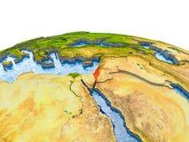 Israël op model van Aarde Stock Afbeeldingen