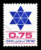 Israël op postzegels royalty-vrije stock foto