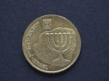 10 Israëlisch Agorot-muntstuk Stock Foto's