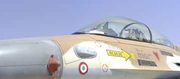 Israëlisch F16 (valk) vechtersvliegtuig Stock Fotografie