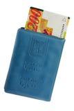 Israëlisch identiteitskaart en geld Stock Afbeeldingen