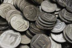 Israëlisch muntstukkenbehang royalty-vrije stock foto's