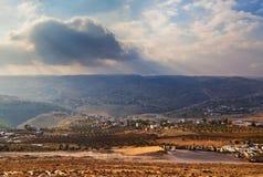 Israëlisch zonsonderganglandschap Royalty-vrije Stock Fotografie