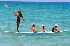 Israëlische badmeester op de Kustlijn van de Middellandse Zee royalty-vrije stock afbeeldingen