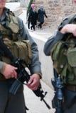 Israëlische Controlepost in Hebron stock foto