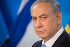 Israëlische Eerste minister Benjamin Netanyahu royalty-vrije stock afbeelding