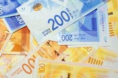 Israëlische geldnota's royalty-vrije stock afbeelding