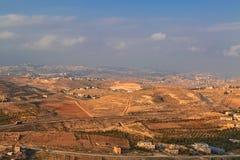 Israëlische landschapsmening van Herodion Royalty-vrije Stock Foto's