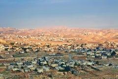 Israëlische landschapsmening van Herodion Stock Fotografie