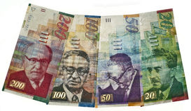 Israëlische munt Stock Foto's