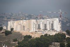 Israëlische nederzetting op bezet Palestijns grondgebied royalty-vrije stock foto
