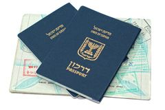 Israëlische paspoorten Stock Afbeeldingen