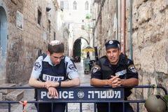 Israëlische Politie Jeruzalem Royalty-vrije Stock Afbeeldingen