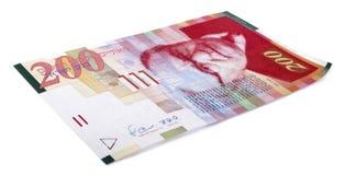 200 Israëlische Sjekelsrekening Stock Afbeeldingen