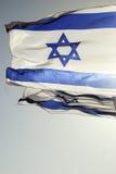 Israëlische vlag Stock Afbeeldingen