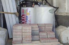 Israel öl-Sheva - nya sol- tegelstenar för andför vattenvärmeapparater Royaltyfri Bild