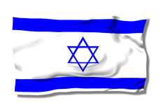 Israel. Flag with star on the wind Stock Photos