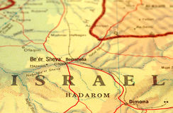 Israel. Close-up map detail of Israel Stock Photos