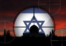 Israel. And the dangerous middle east crisis Royalty Free Stock Image
