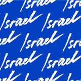 Israel. Abstract  card with  watercolor lettering. Stock Image