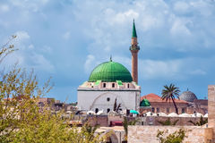 Israel, Acre, the Al-Jazzar. Acre, an ancient city on the Mediterranean coast, in northern Israel. Mosque of Al-Jazzar, also called the White Mosque - one of Royalty Free Stock Images