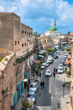 Israel, acre, una calle en la ciudad vieja. Imagen de archivo libre de regalías